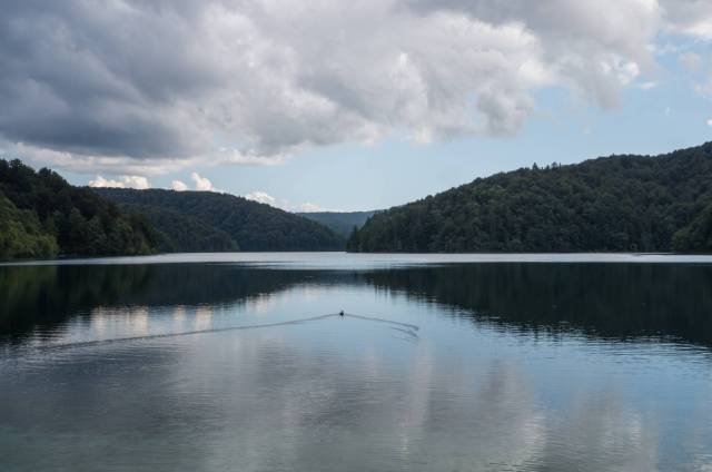 Homeward bound on Prošćansko lake.