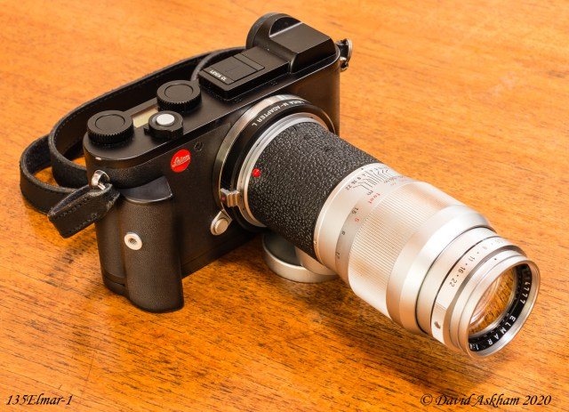 Leica 135mm f/4 lens fitted to Leica CL camera via an adapter (Leica X-Vario) when it provides a 200mm view