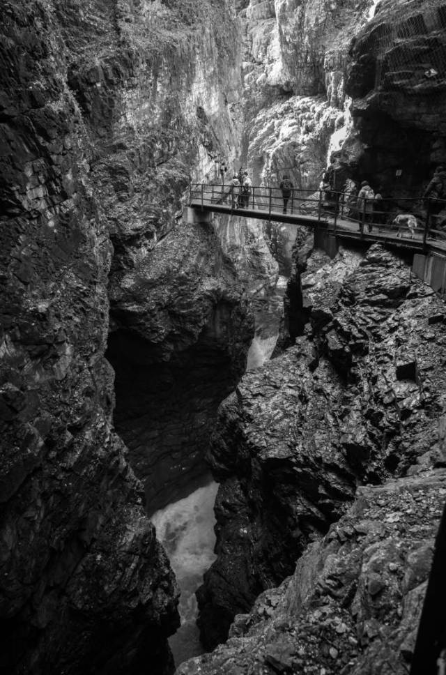 Breitach-Klamm. Leica M10-M with 21mm Super-Elmar at f/3.4 1/90s ISO 2000, Orange filter