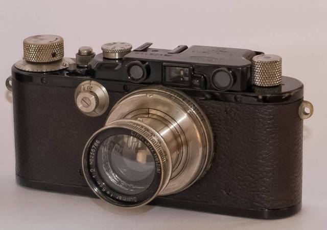 A mid-1930s Leica III similar to the camera used in 1950 during the mysterious trip from Zurich to Lake Como. William Fagan found the roll of film in one of his cameras and this could be the very one. Image William Fagan.