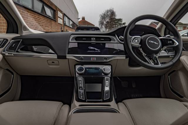 The sumptuous Jaguar I-Pace cabin with its traditional controls attempts to introduce technology in a familiar guise, but I see this as purely a transitory stage