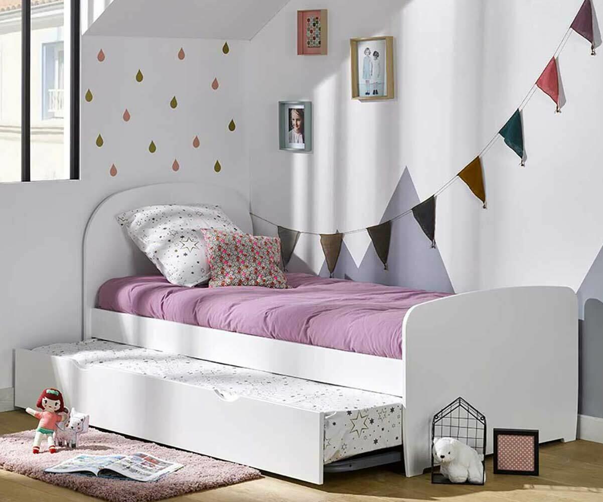 lit enfant gigogne avec 2 matelas luen
