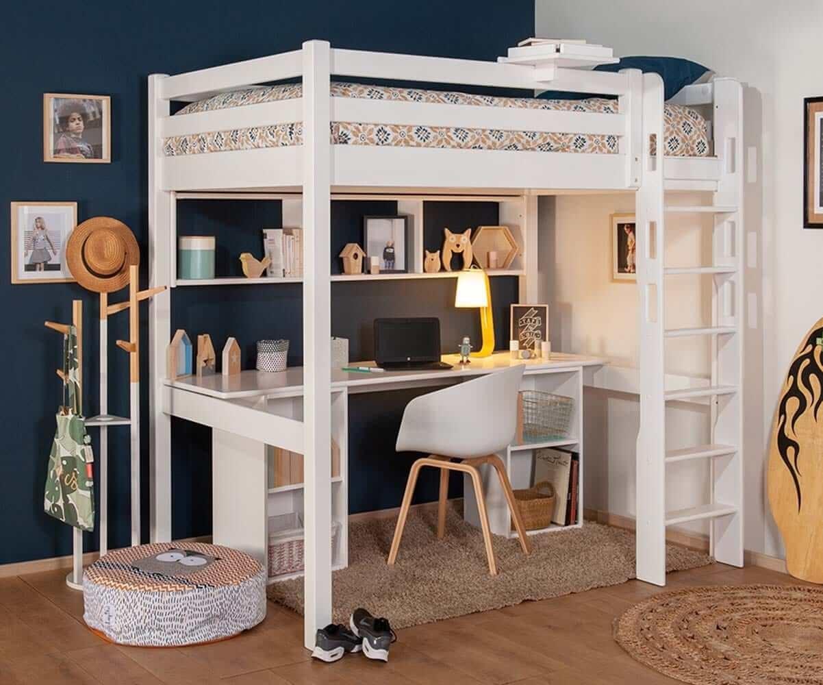 lit mezzanine ado avec bureau cancun