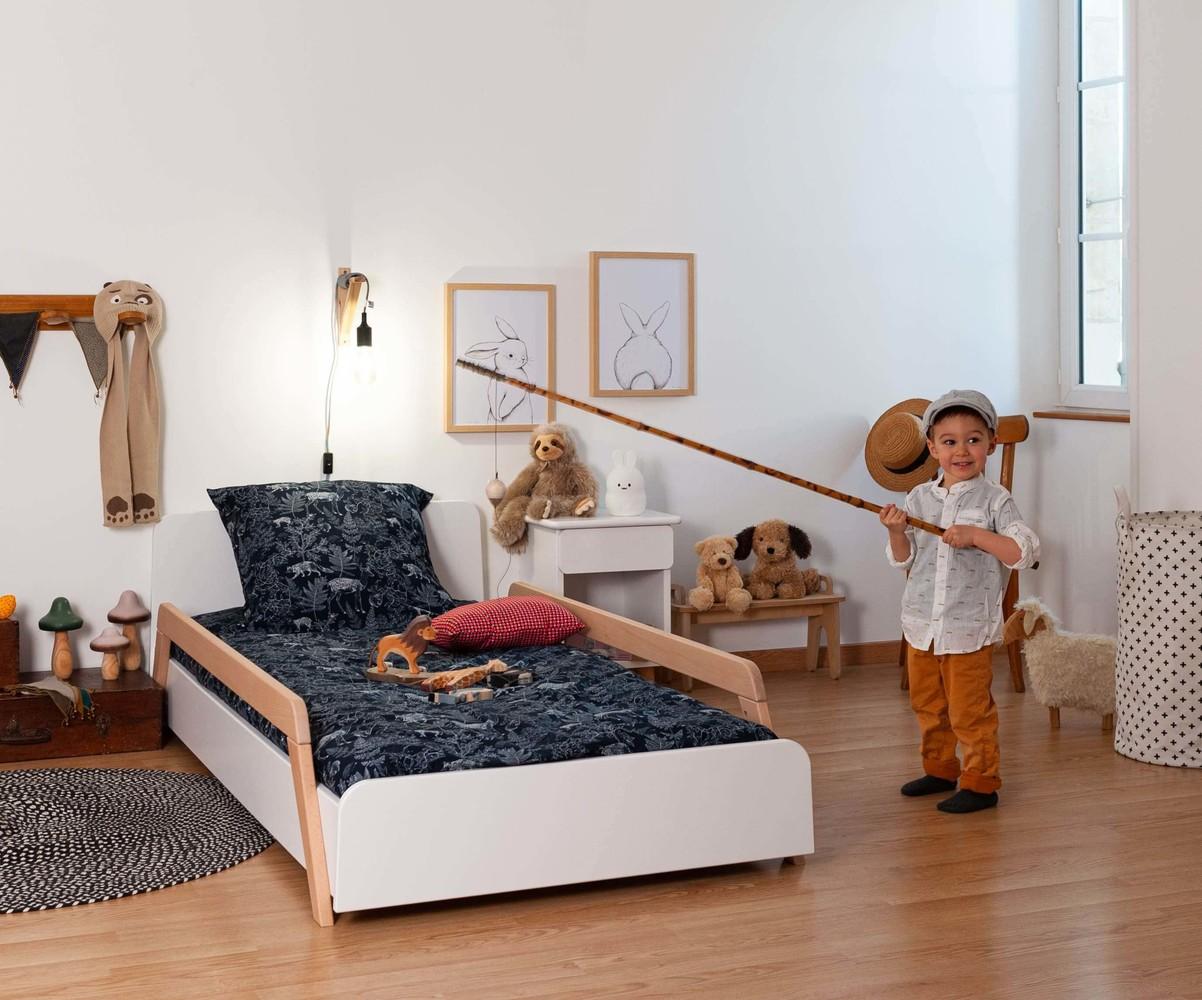 lit enfant avec barrieres sommier et matelas ozzo