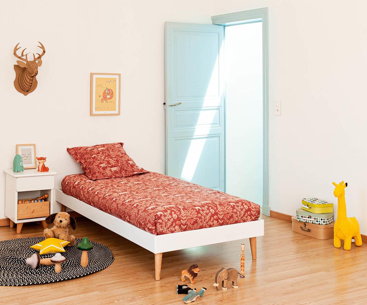 lit enfant avec pieds sommier et matelas honey