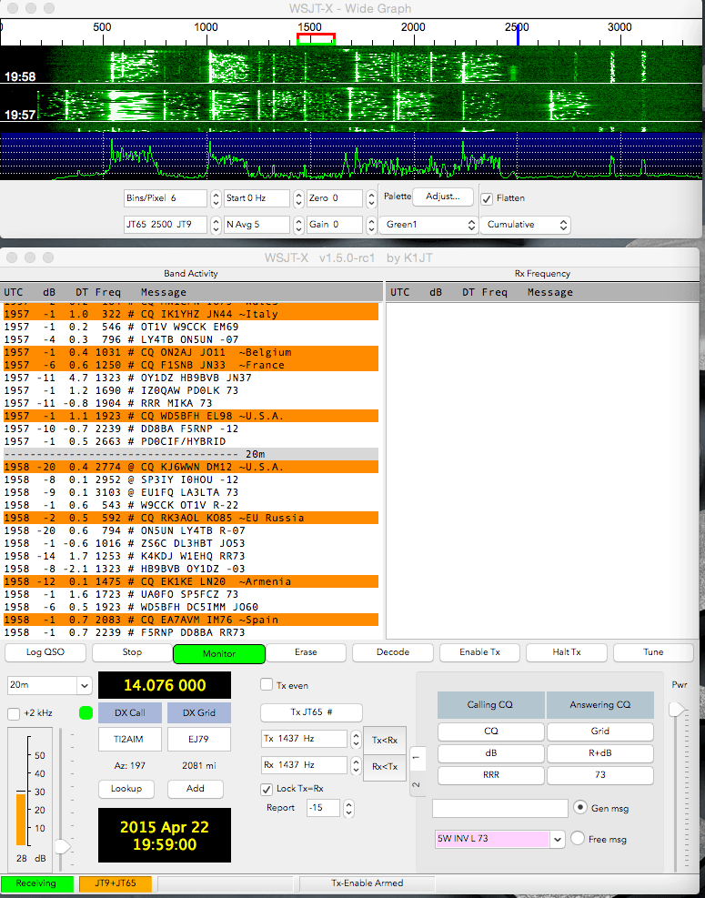 WSJT-X - JT-65 and JT-9 on OS X
