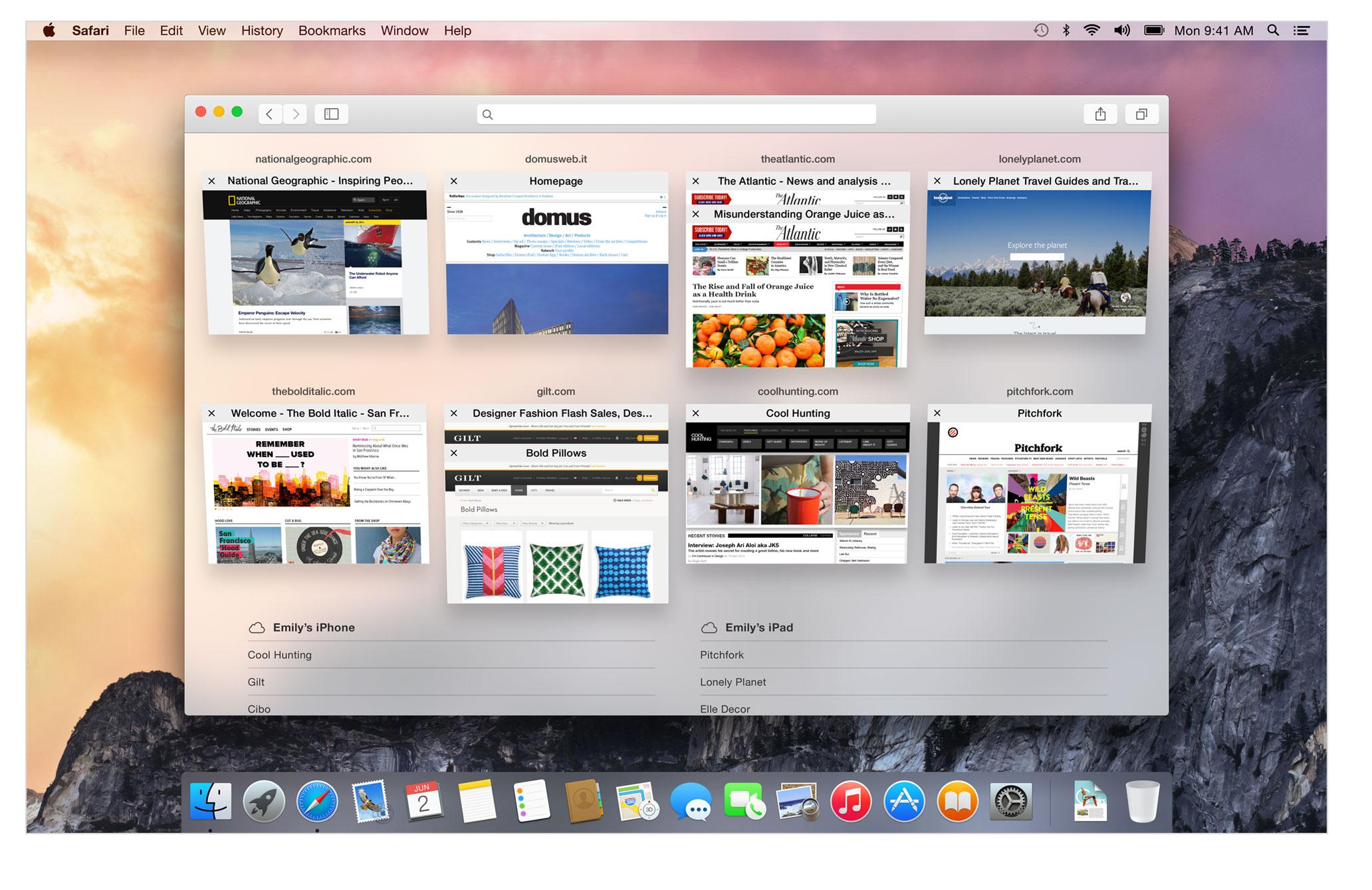 OSX Yosemite Safari Browser Mac Heat