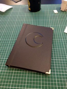 Witchy moon embossed cover