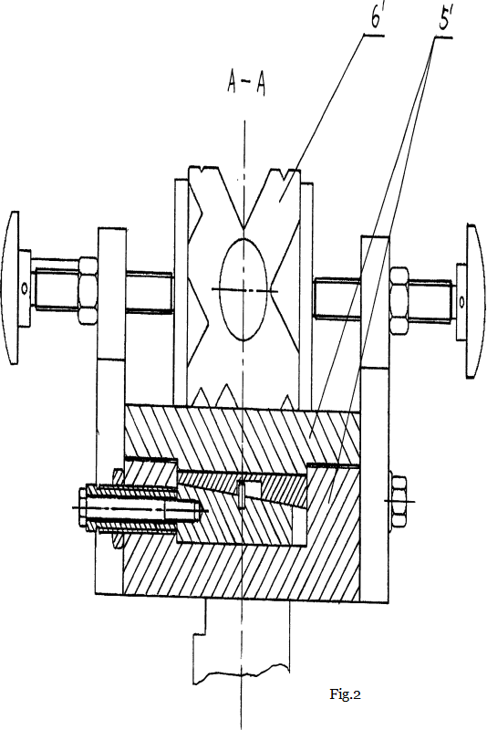 Fig.2The partial schematic diagram of Fig.1 in A-A direction