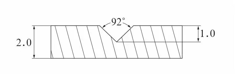Fig.4 Grooving angle and depth