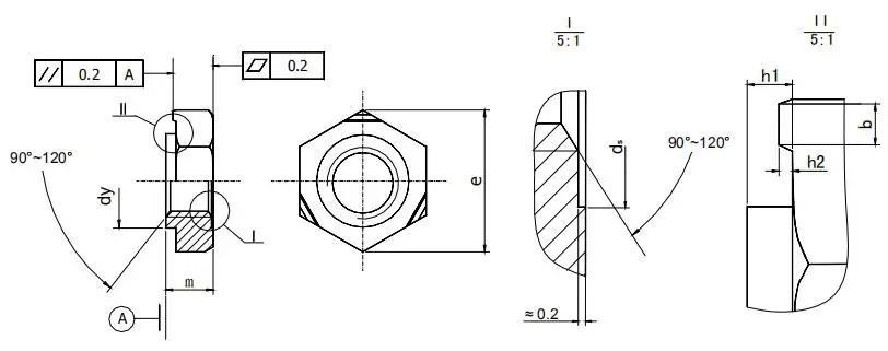 Figure 1-47 Welding hex nut structure type