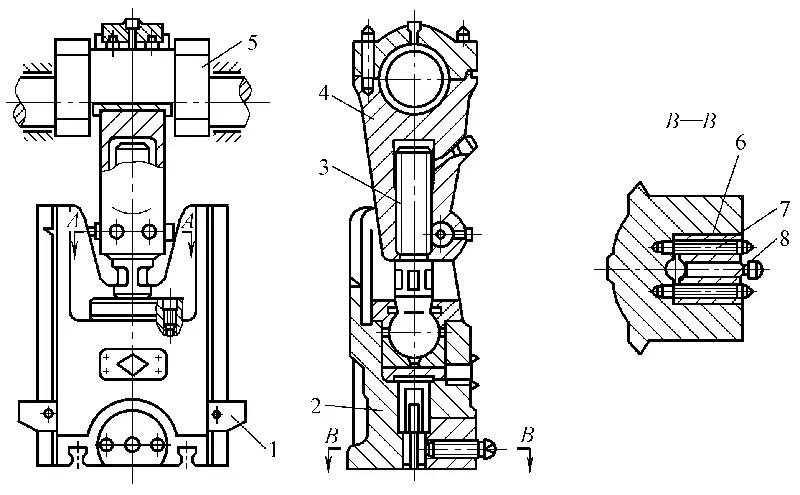 Crank and link mechanism