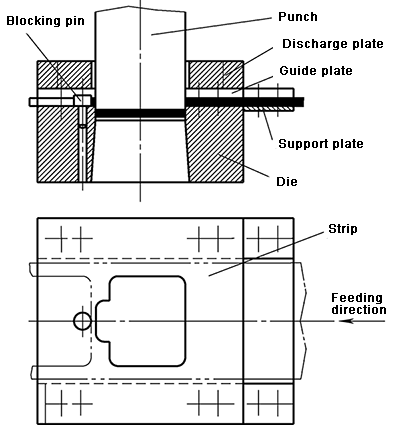 Structure with receiving plate