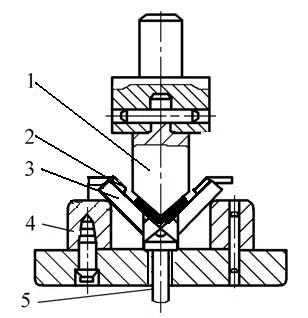 V-shaped precision bending die