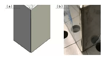 Schematic diagram of the optimization of the amount of overlap and the actual laser welding effect