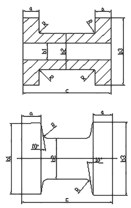 Diagram of parts and forgings