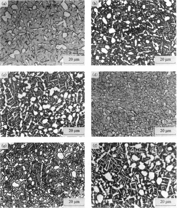Effect of aging temperature on the structure of TC21 alloy
