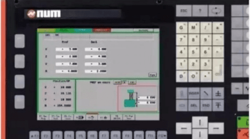 French NUM CNC system
