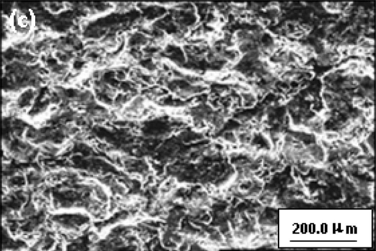 surface post-blasting topography