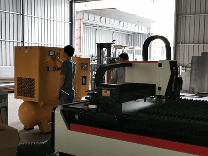 Fig. 13 integrated air compressor for laser cutting machine