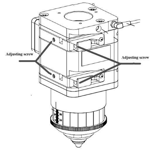 Adjusting the position of the coaxial laser beam