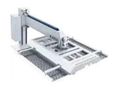 Cantilever laser loading and blanking machine