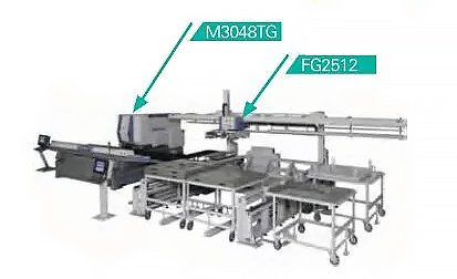 Automatic sorting independent unit of CNC punch