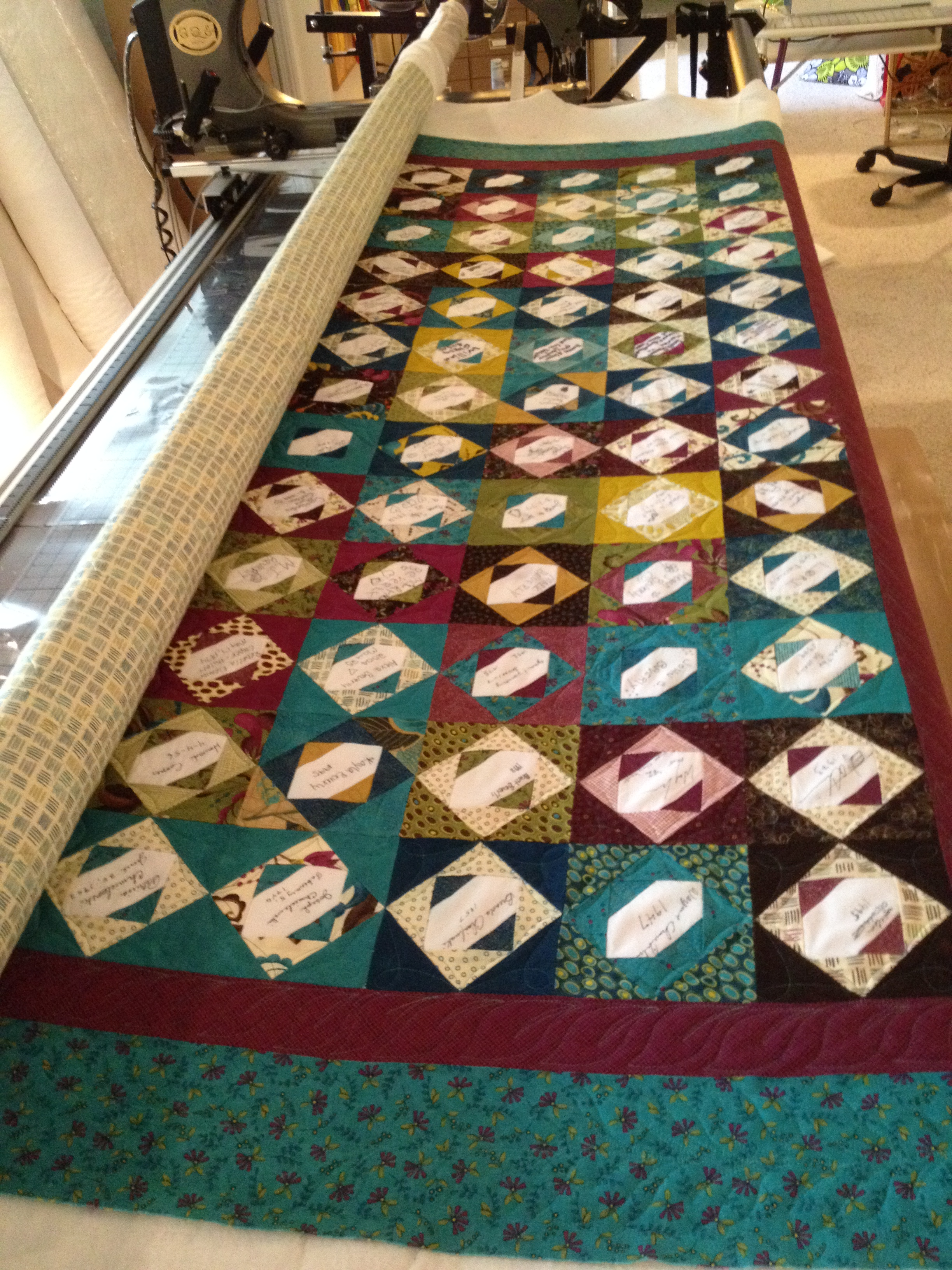 A Beautiful Signature Quilt Machine Quilting Services Of Vermont