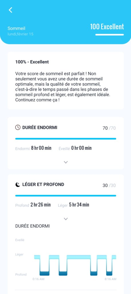 fittrack analyse sommeil