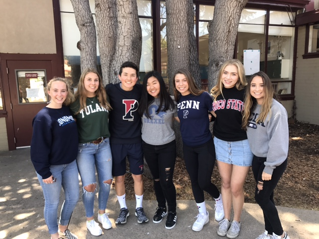 From left to right: Daisy DeMartini, Ava Rose, Joey Lohmann, Taylor Yeh, Josephine Cotto, Olivia Fernandez, and Samantha Jeffrey.