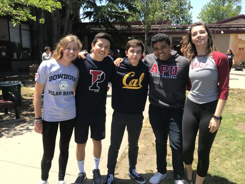 From left to right: Julia Marks, Joey Lohmann, Garrett Polman, Isaac Lepulu, and Addison Lentz.