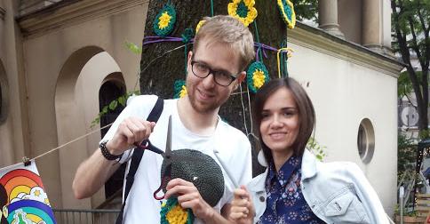 Projekt Urban Knitting dla JCC Kraków