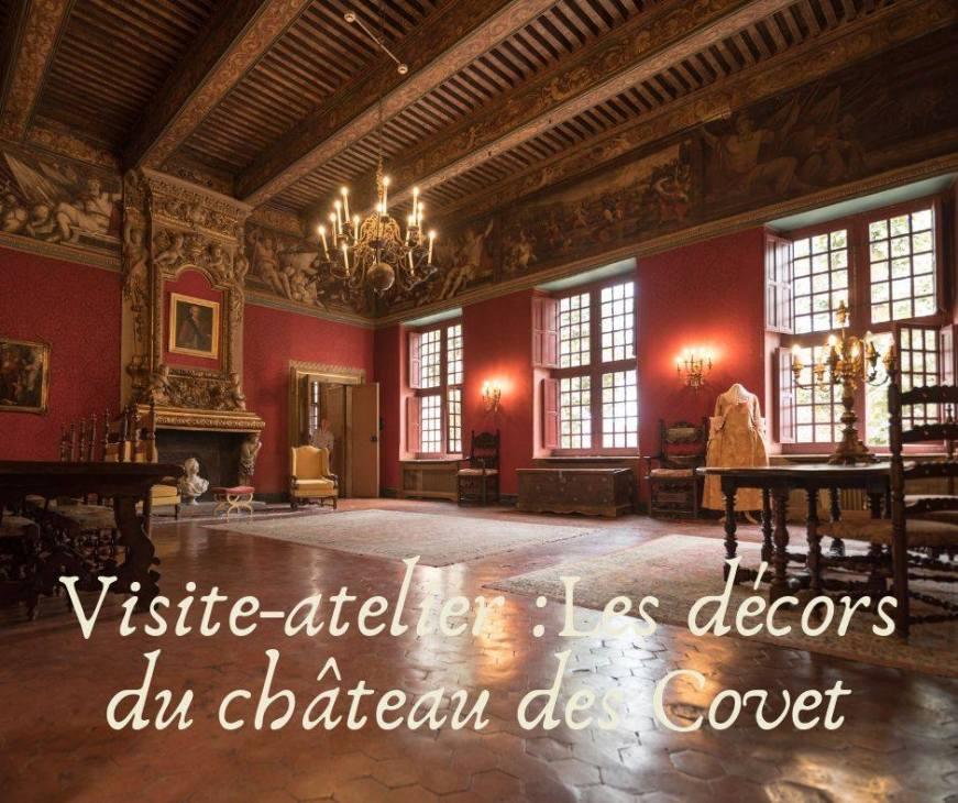 Escales Patrimoine Marignane ete 2019 - visite atelier les decors du Château