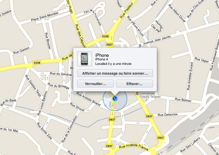 find my phone - localiserun iphone ou ipad