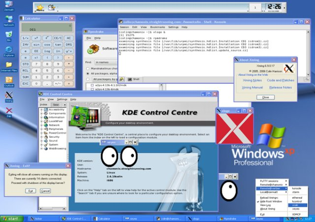 xming open source X windows Server ssh