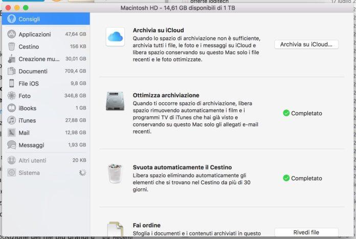 """""""Il tuo disco è quasi pieno"""": come liberare spazio per rianimare il Mac"""