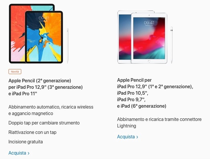 Apple Pencil 2 è compatibile solo con iPad Pro 2018