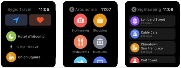 Sygic Travel porta le mappe su Apple Watch, con itinerari, preferiti e punti di interesse