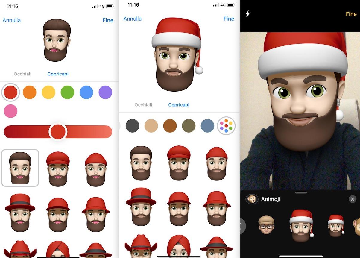 Come aggiungere un cappello di Babbo Natale al vostro Memoji su iPhone e iPad