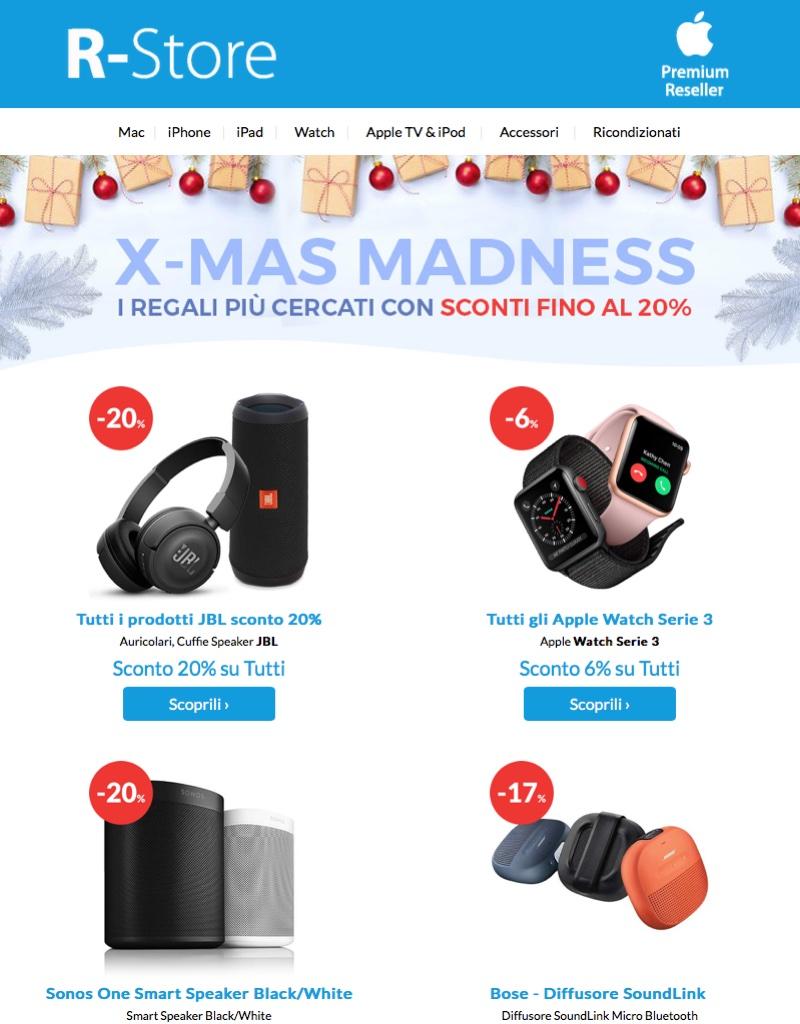 Black Xmas R-Store, con i super sconti iPhone, iPad e Mac costano meno