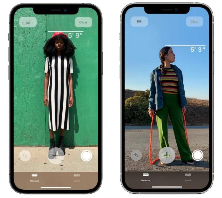 iPhone 12 Pro può dirvi quanto siete alti in un lampo