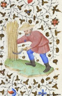 Farmer in tunic and short hose, c. 1430