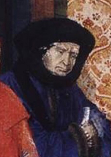 Chancellor Nicolas Rolin, using a less exuberant version of the style.