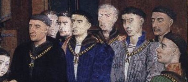 Lords with the bowl cut style, c. 1447