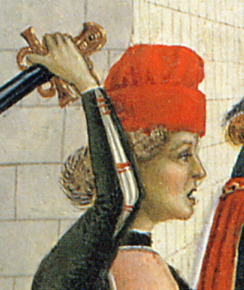Baggy red hat, c. 1473