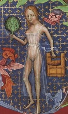Women in her very see though shift c. 1390