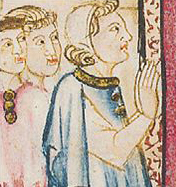 Noble man wearing a coif, c. 1280-1285