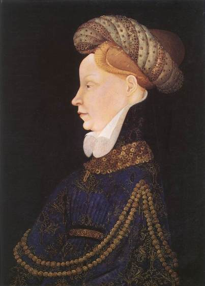 """A bourrelet, or """"padded roll"""" hat, was fashionable in the 1300's and 1400's. These hats were made principally of rolled fabric."""