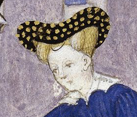 Bourrelet and hairnet, c. 1413