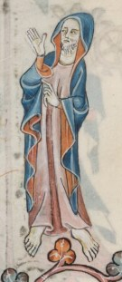 Man wearing a cloak or mantle, 1325-1340